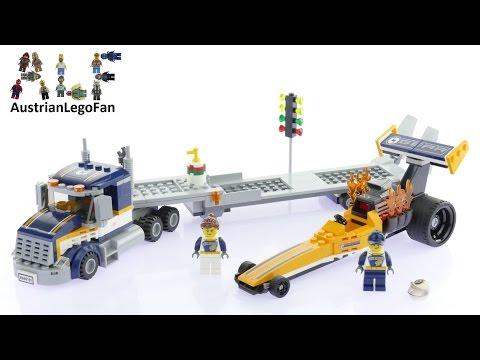 Vidéo LEGO City 60151 : Le transporteur du dragster