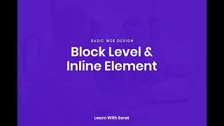 Basic Web Design Block level and Inline Element