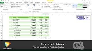 Excel 2013: Was-wäre-wenn-Analyse (1/2)