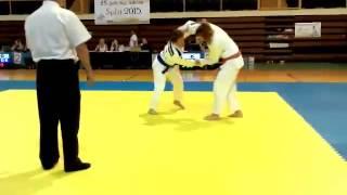 Спортният талант на Еврофутбол за 2015 г. – Марая Любенова на международен турнир по джудо в Сплит