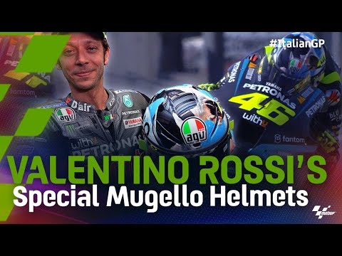 バレンティーノ・ロッシ MotoGP 2021 第6戦イタリア ムジェロ専用ペイントのヘルメットを紹介