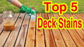 ✅ TOP 5: Best Deck Stains in 2020