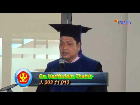 Dok Humas Untad Ujian Dr Harifuddin Thahir