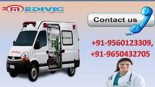 Hire High Class Road Ambulance  Service in Gandhi Nagar and Indira Nagar