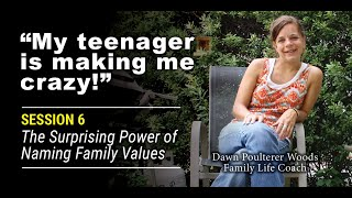 """My Teenager Makes Me Feel Crazy!"" Session #6 of 7: The Surprising Power of Naming Family"