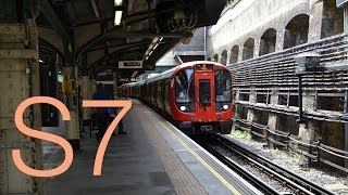 preview picture of video 'Hammersmith & City line S7 Stock departing Edgware Road'