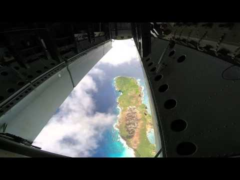 This Is How A Bombing Run Looks Through A B-52's Bomb Bay Doors