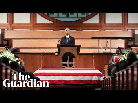 John Lewis funeral: Obama, Clinton and Bush pay tribute – watch live