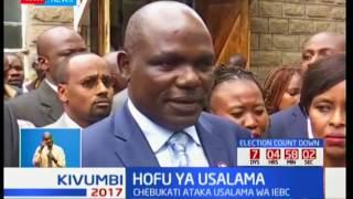 Mwenyekiti wa IEBC Wafula Chebukati ataka usalama kuongezwa kwa maafisa wa IEBC