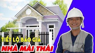 [HỎI ĐÁP] Cách Tính Diện tích Nhà Mái Thái | Xây Dựng Nhà Phố