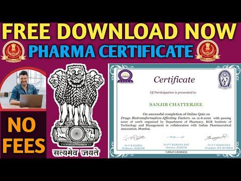 Free Online Pharma Certificate 2020    Online Free Online Course ...