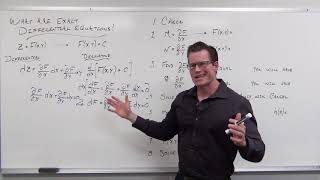 What are Exact Differential Equations (Differential Equations 28)