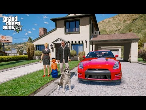 GTA 5 REAL LIFE MOD#151-NEW FAMILY HOUSE SHOPPING