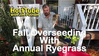 Fall Overseeding with Annual Ryegrass and Fertilizing - Just Another Maintenance Monday