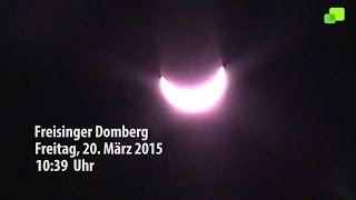 preview picture of video 'Sonnenfinsternis Domberg Freising 2015'