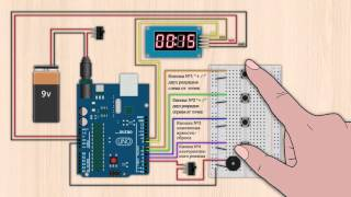 Using a TM1638 based board with Arduino Code, the