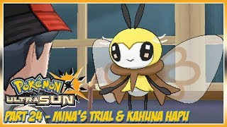 Pokémon Ultra Sun Walkthrough Part 24: Mina's Trial and Kahuna Hapu