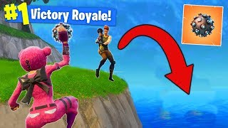 LAUNCHING ENEMIES OFF THE MAP In Fortnite Battle Royale!