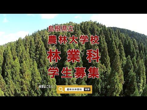 島根県立農林大学校林業科 令和3年度学生募集