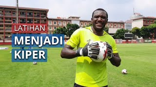 Jelang Liga 1 Kembali Bergulir, Striker Bhayangkara FC Herman Dzumafo Latihan Menjadi Kiper
