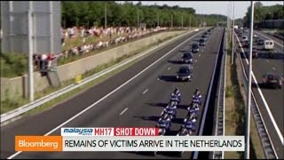 Malaysian Crash MH17 Victims Arrive On Dutch Soil