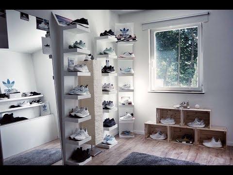 Sneakerzimmer einrichten + Geheimtipp -  Build a Sneaker room - closet part 2 adidas Hypebeast
