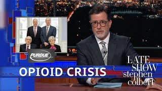 Colbert Links Big Pharma's Sackler Family To America's Opioid Crisis