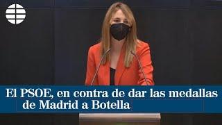 El PSOE vota en contra de otorgar las medallas de Madrid a Ana Botella y a Andrés Trapiello