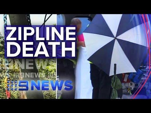 Man dead, woman hospitalised after QLD zipline fall   Nine News Australia