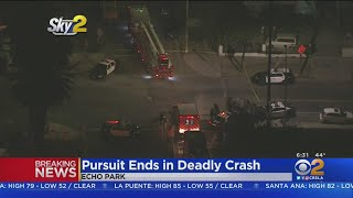 3 Killed After Police Pursuit Ends In Crash On 101 Freeway In Echo Park