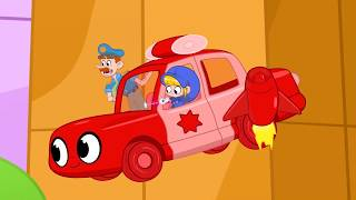 Oh No It's The Vehicle BANDITS!   My Red Police Car   Kids Cartoon   Mila and Morphle