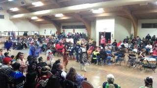 Mission Christmas powwow 2014 Friday night jr girl