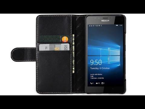 Lumia 950 Hülle Talis mit Kreditkartenfach von StilGut