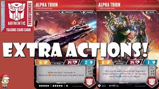 Alpha Trion Plays AND Recovers Extra Actions in the Transformers TCG!