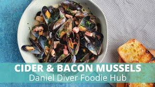 Mussels with Bacon & Cider