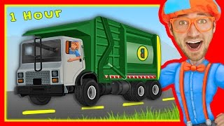 Explore Machines with Blippi   Garbage Trucks and More!