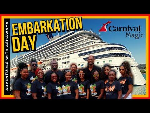Embarkation Carnival Magic Room 2290 Cove Balcony
