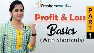Aptitude Made Easy - Profit & Loss – Basics and Methods, Profit and loss shortcuts, Math tricks