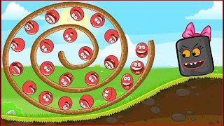 ОГО ! КРАСНЫЙ ШАРИК и Огромная Горка ! новая веселая игра ! Мультик Для детей !