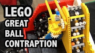 LEGO Great Ball Contraption at Brickworld Indy 2018 | Rube Goldberg Machine