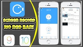 [New]How To Screen Record With No Red Bar On iOS 10/9! NO PC/JB! FREE!