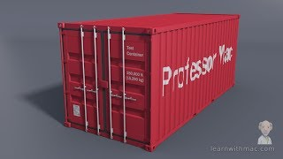 Behind the Scenes 03 - Archimedes' Principle - Shipping Container Modelling