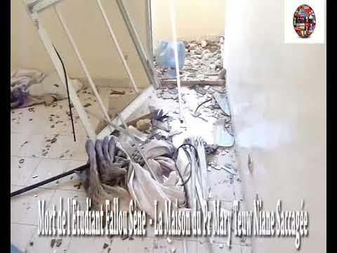 Vidéo-Mort de l'Etudiant Vidéo: Fallou Sène La Maison du Ministre Mary Teuw Niane Saccagée