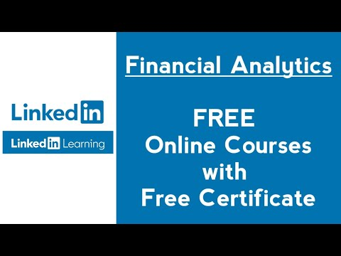 LinkedIn Learning Free Financial Analytics Courses with Certificate ...