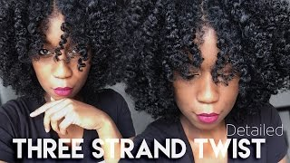How To 3 Strand Twist Out | DETAILED Clear Instructions
