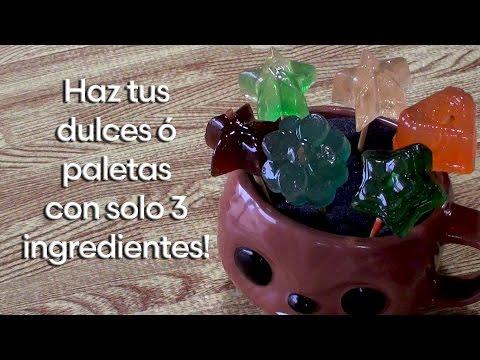 Como hacer Dulces o paletas con tan solo 3 ingredientes