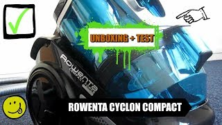 Ein Mann packt ihn aus | Unboxing+Saugtest | Rowenta Compact Power Cyclonic | AUTGameForce