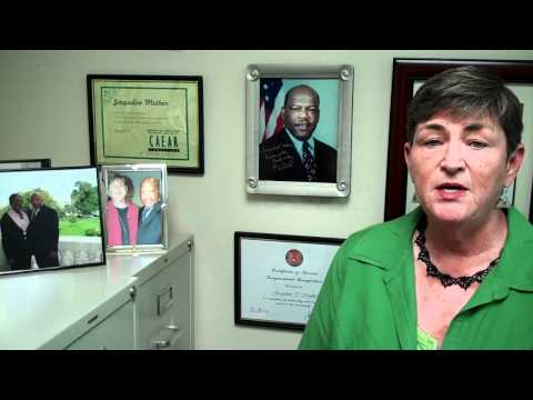 Jacqueline Muther offers support for Rep. John Lewis' work for HIV/AIDS Treatment in Atlanta