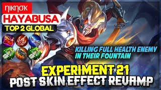 Fountain Dive Kill, Experiment 21 New Skin Effect [ Top 2 Global Hayabusa ] ηιкησк - Mobile Legends