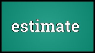 Estimate Meaning
